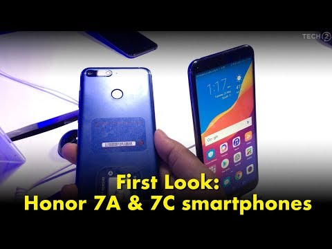 First look: Hands on with the Honor 7A and 7C smartphones
