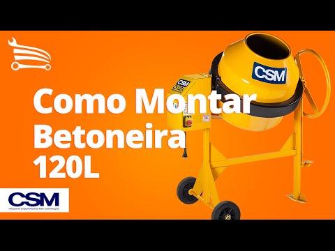 Betoneira 120 Litros 1/3CV Monofásico   - Video