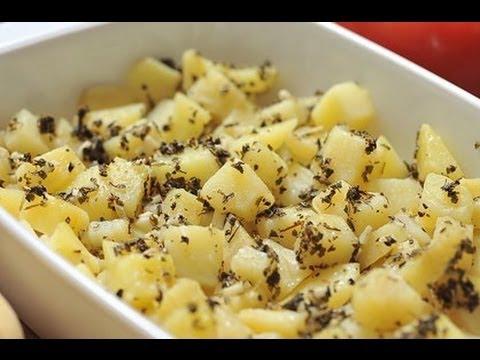 Papas griegas - Greek potatoes - Recetas de papa
