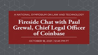 Click to play: Fireside Chat with Paul Grewal, Chief Legal Officer of Coinbase