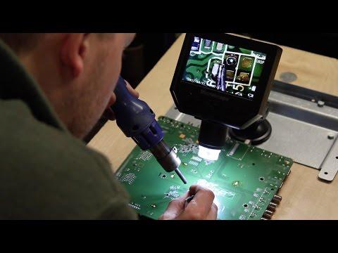 Portable Digital HD Microscope - Precision Soldering for TV Board Repair - Component Magnification