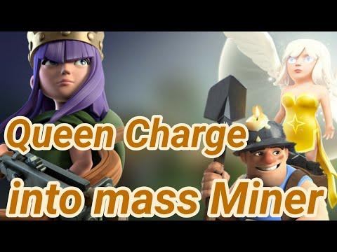 Queen Walk into Miner | 3 Star War Attack | TH12 | healer