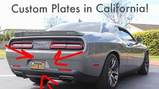 How To CUSTOMIZE Your License Plates In Cali! (Plate Reveal)