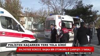 Konya'da kaza! Polisten kaçarken ters yola girdi