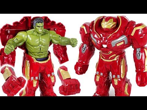 #3 Red Hulk is angry! Go! Marvel Avengers Infinity War Hulk in Hulkbuster armor! - DuDuPopTOY