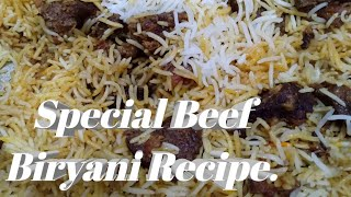 Special Beef Biryani Recipe.