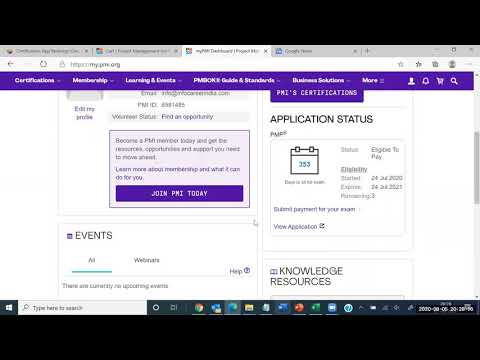 Infocareer : How to pay PMP exam fee - YouTube