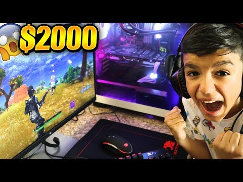Surprising Little Brother With NEW Fortnite Gaming PC! HE FREAKS OUT! (видео)