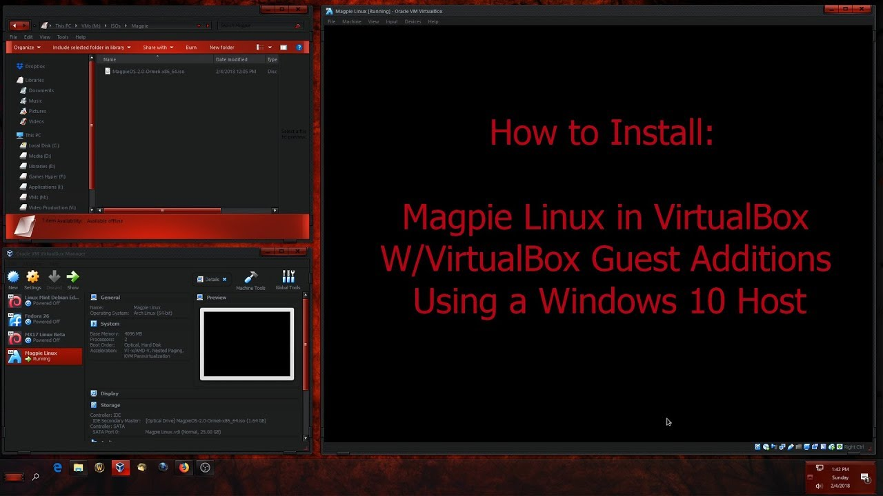 How to Install Magpie Linux in VirtualBox