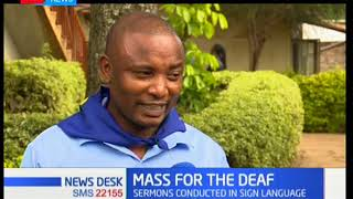 Mass for the deaf with sermons conducted in sign language