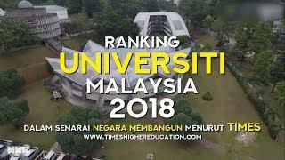 Ranking Universiti Malaysia 2018