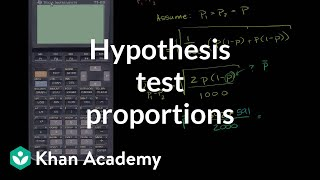 Hypothesis Test Comparing Population Proportions