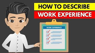 How To Describe Work Experience On A Resume Or Relevant Work Experience In Resume - ANIMATED