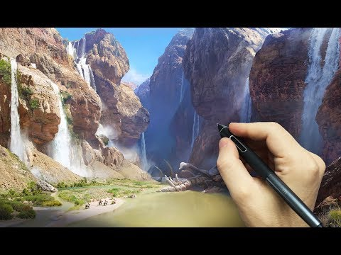matte painting time lapse under 10 minutes by marc brunet