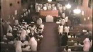 "Communion Sunday Night in the ""Blessed Sanctuary"" of the Ebenezer Baptist Church - Praise"