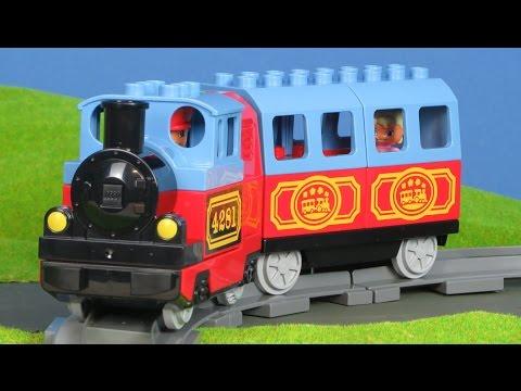 LEGO Duplo Zug: Eisenbahn & Bahnhof Bau für Kinder   Züge & Loks Unboxing