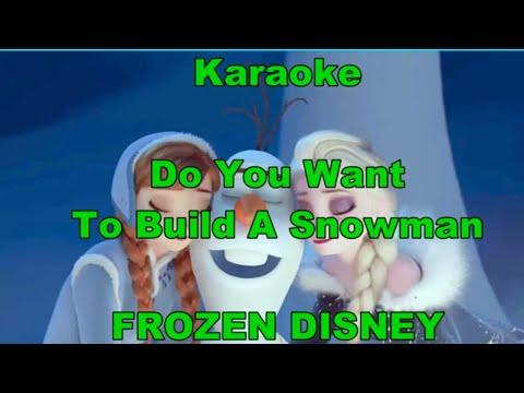 Karaoke - Frozen - Do You Want to Build a Snowman LYRICS - TESTO