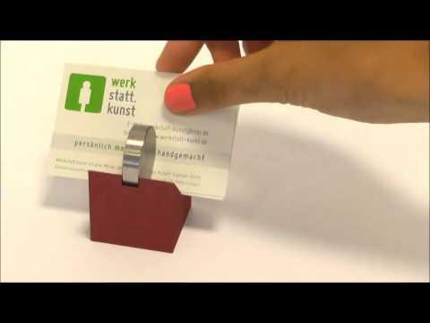 Visitenkartenhalter Aluminium Edelstahl von werkstatt.kunst