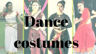 Dance Costume Ideas With Subtitles Part 1 | How To Drape Sarees| Quick Fix | Antara Bhadra
