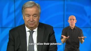 Mensaje del Secretario General de la ONU con motivo del Día Internacional de las Personas con Discap