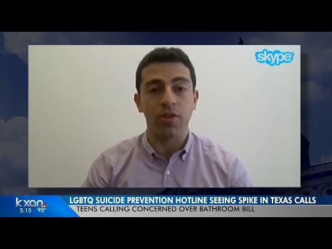 The Trevor Project on Crisis Contact Spike During Re-Introduction of Bathroom Bills in Texas on KXAN