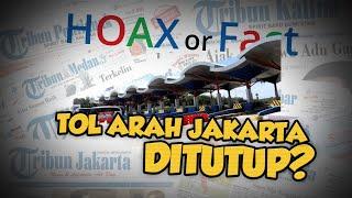 Hoax: Sejumlah Gerbang Tol Arah DKI Jakarta Ditutup karena Lockdown