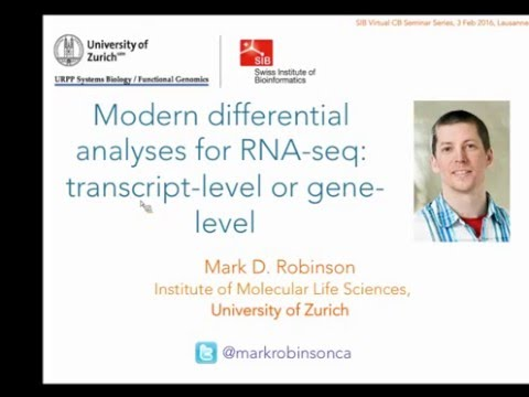 Mark Robinson: Modern RNA-seq differential expression analyses: transcript-level or gene-level