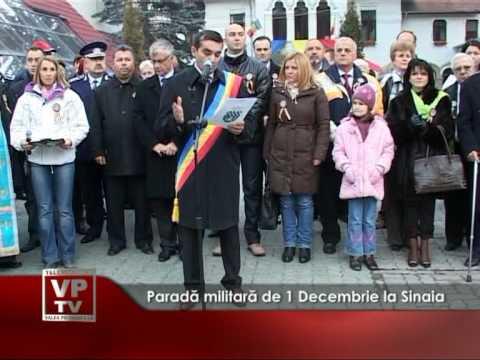 Paradă militară de 1 Decembrie, la Sinaia