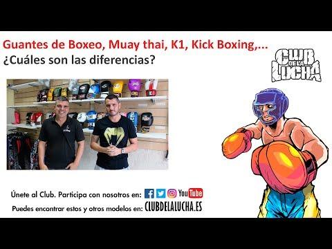 Diferencias entre guantes de Boxeo, K1, Kick Boxing, Muay thai | CLUB DE LA LUCHA