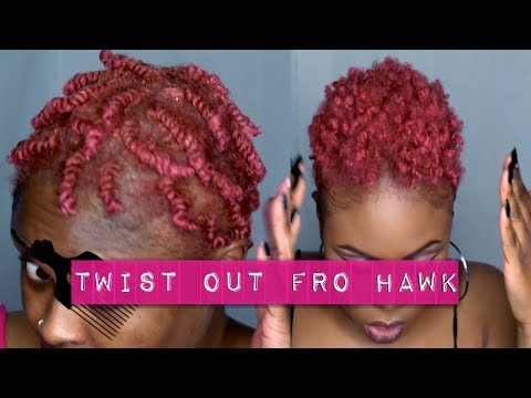 Twist Out on Short TWA   FroHawk on Short Natural Hair   Makeup by Carrie