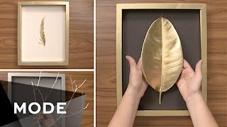 3 DIY Wall Art Ideas | Glam It Yourself ★ Mode.com