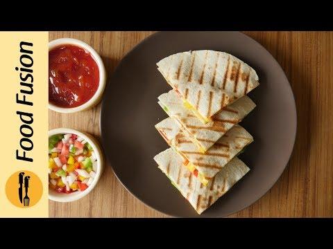 Video Chicken Quesadillas Recipe By Food Fusion