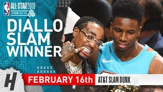 Hamidou Diallo Wins 2019 NBA All Star Slam Dunk Contest   February 16, 2019 | Full Highlights