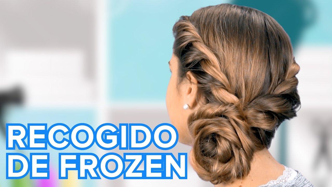 Cómo hacer el recogido de Frozen | Peinados para niñas
