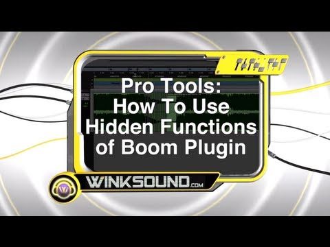 Pro Tools: How To Use the Hidden Functions of Boom Plugin | WinkSound