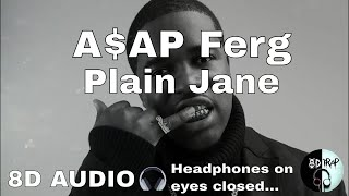 A$AP Ferg   Plain Jane Ft  Nicki Minaj (8D AUDIO)