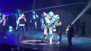 JLS Outta This World Tour 2010 M.E.N - Superhero (Titan the Robot)