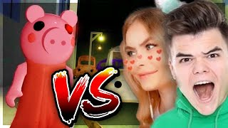 ROBLOX PIGGY.. with JELLY & IAMSANNA! (YouTuber Battle)