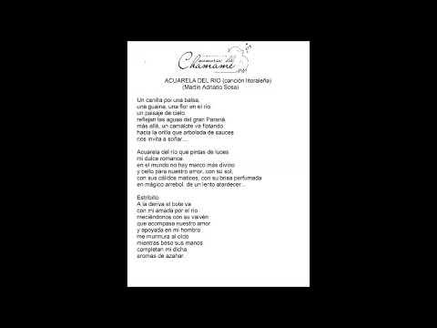 Acuarela del Rio - Cuatro Para El Mundo - compositor Abel Montes (Martin Adriano Sosa)