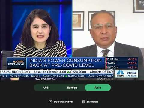 Dr Praveer Sinha, CEO & MD, Tata Power discusses the Tata Power Q1 FY2022 results with CNBC Asia