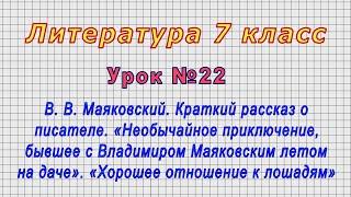 Литература 7 класс Урок 22