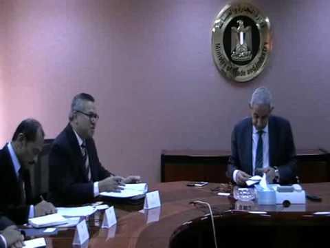 لقاء المهندس/ طارق قابيل وزير التجارة والصناعة مع سفير اندونيسيا بالقاهرة