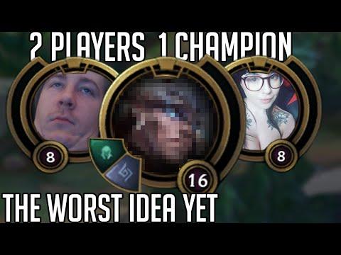 League of Legends but 2 people control 1 champion