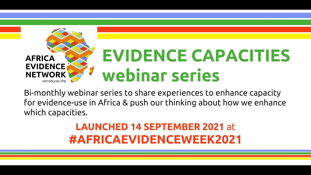#EvidenceCapacities webinar series: Capacity development for evidence use in Africa: An orientation