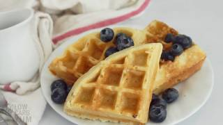waffle mix made with almond flour