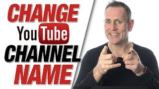 Change Youtube Channel Name   How To Change Your YouTube Name 2020