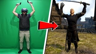 Fighting in VR with full body tracking (amazing)