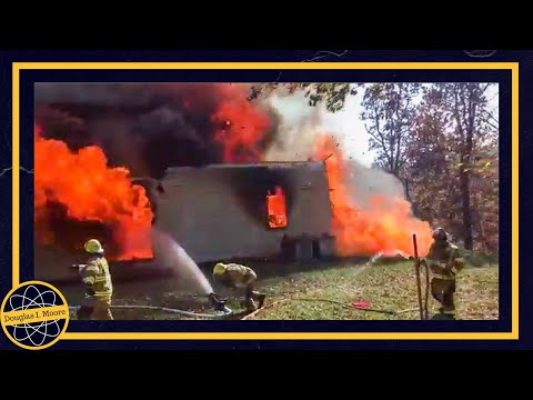 House on Fire, Burns to the Ground November 2, 2016 Williamstown, WV