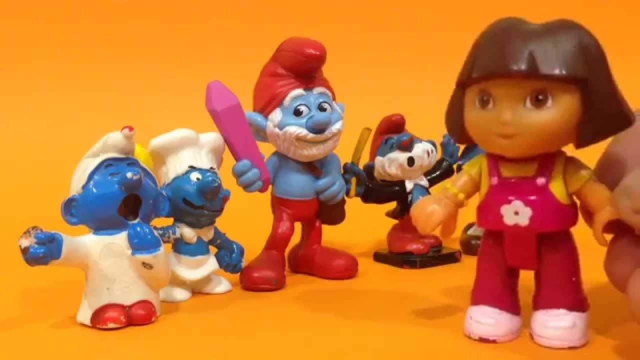 """Dora la exploradora y los Pitufos cantan """"Mira bien"""""""