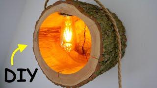 STYLISCHE Wandlampe aus Baumstamm selber bauen⎮MrHandwerk